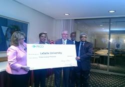 November 6, 2014: LaSalle University Receives PECO Rebate
