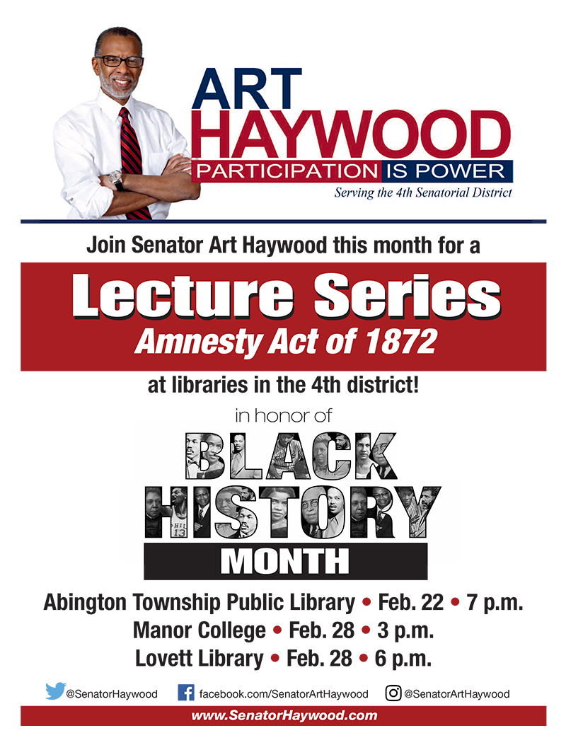 Library Lecture Series—Amnesty Act of 1872 - Senator Art ...