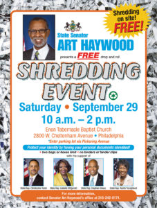 Shredding Event September 29, 2018
