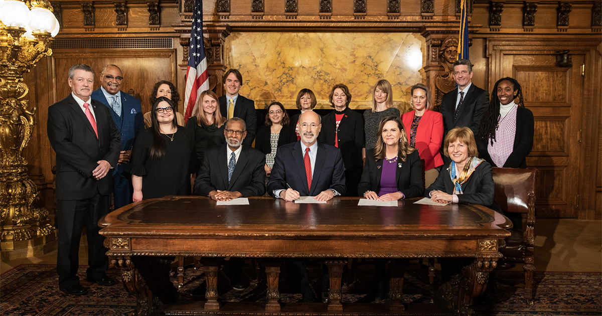 Sen. Haywood Joined Gov. Wolf for Signing Ceremony of Domestic Violence Relocation Bill