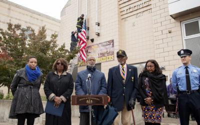 Sen. Haywood Honors Veterans Through Flag Raising Ceremony