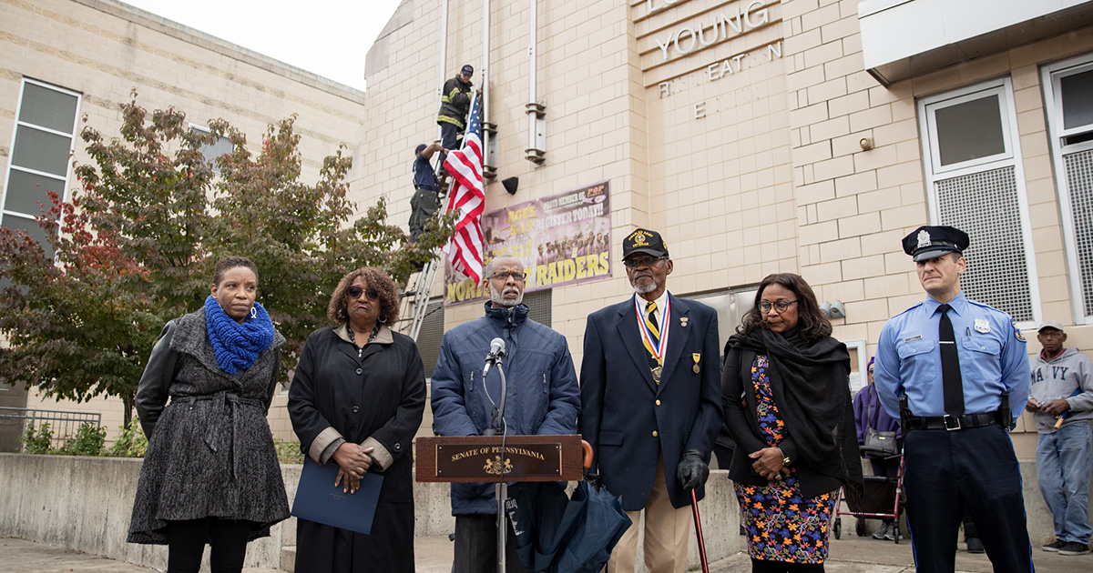 Sen. Haywood Honors Veterans Through Flag Raising Ceremony