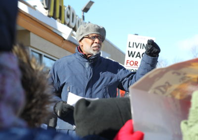 Senator Haywood and Community Sponsors Host Raise the Wage Rally at McDonald's to Advocate for Minimum Wage Increase
