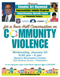 Townhall on Community Violence - January 30 @ 6:30 pm