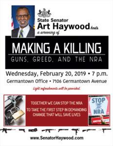 Screening Making a Killing - Guns, Greed, and the NRA