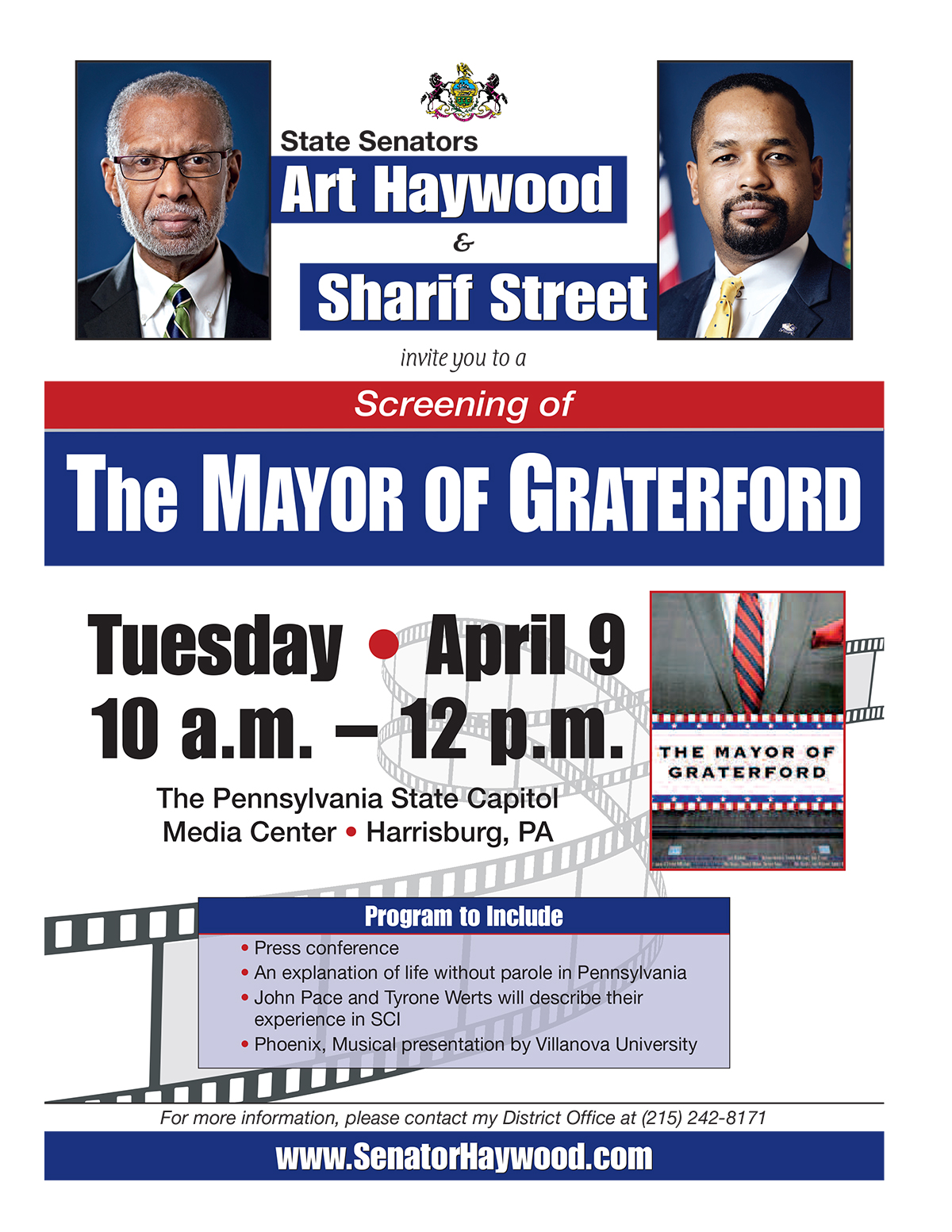 Screening of The Mayor of Graterford - Senator Art Haywood