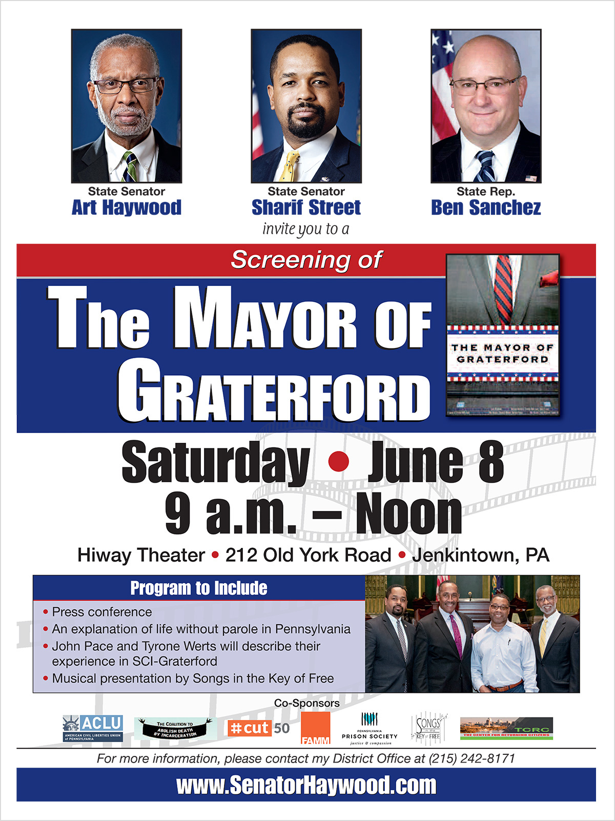 Screening of The Mayor of Graterford - June 8, 2019
