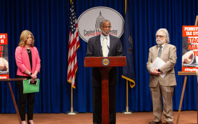 Senators Haywood, Hughes, and Muth Hosted a Fair Share Tax News Conference