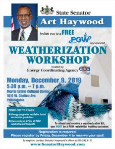 Weatherization Workshop - December 9, 2019