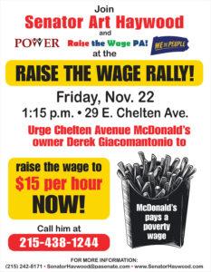 Raise the Wage Rally - November 22, 2019