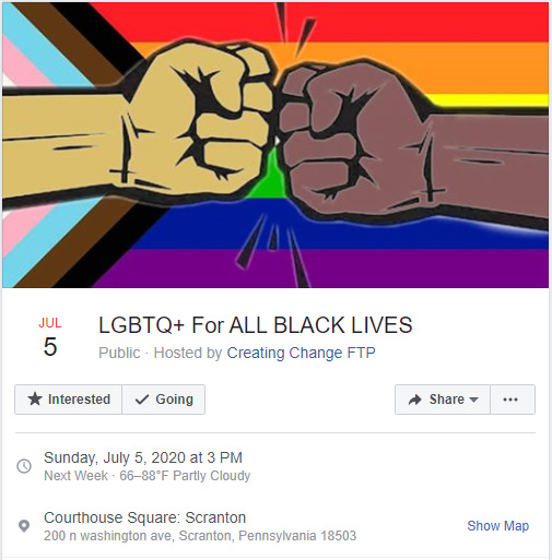 July 5 - LGBTQ+ For ALL BLACK LIVES