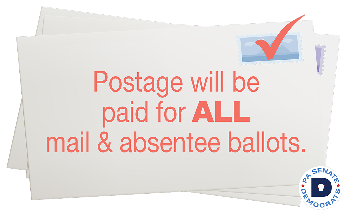 Postage will be paid for ALL mail-in & absentee ballots