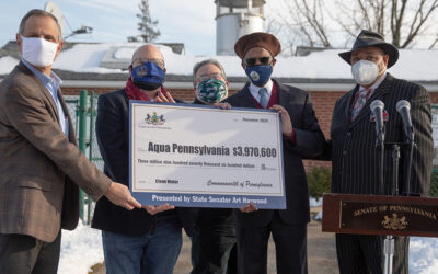 Senator Haywood Presents $3.9 Million Check to Aqua Pennsylvania for Clean Water