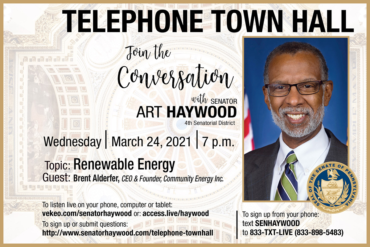 Telephone Town Hall - March 2021