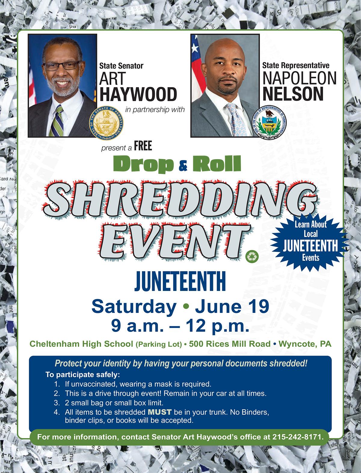 Shredding Event - June 19, 2021