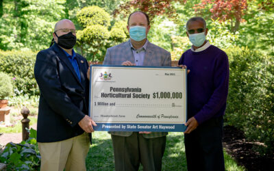 Senator Haywood Presents $1 Million Check to PA Horticultural Society