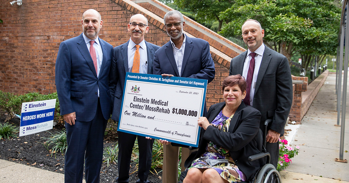 Senators Haywood and Tartaglione Present $1 Million State Redevelopment Grant to MossRehab